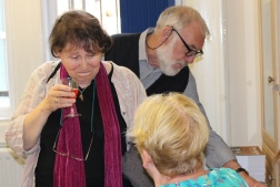 Elaine Pope, another songwriter who produced a very moving lyric, with regular volunteers, Bill and Kath